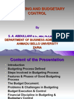 BUDGETING AND BUDGETARY CONTROL ANAN 2009 II