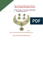 Exclusive Designs of Kundan Polki Diamond Collection