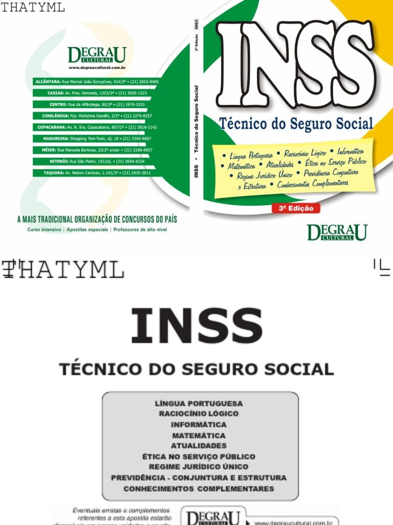 57b0fe5066579 TÉCNICO DO SEGURO SOCIAL - Apostila INSS