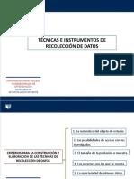 Técnicas,instrumentos, procedimientos, métodos, aspectos éticos