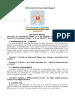 Cours préliminaire philo # 04