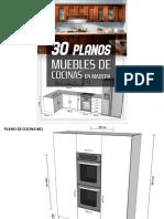 30 Planos Para Hacer Cocinas de Madera