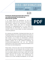 (15) Pistorius stellvertretender Vorsitzender des Aufsichtsrates