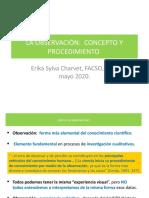 La Oberservación, Concepto y Procedimientos