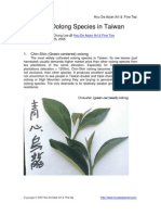 Common Oolong Species in Taiwan
