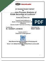 Business Process Analysis of Kotak Securities
