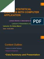 Data Summary and Presentation 1
