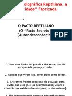 0-Reptiliano - o Pacto Reptiliano
