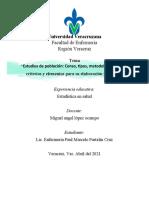 Estudios de Población- Censo- Estadistica en Salud