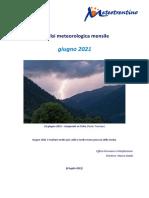 Analisi meteorologica di giugno 2021