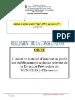 Reglement de La Consultation AOO 26-2021