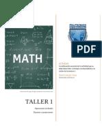 Taller 1- Matemática Básica