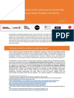 Key Considerations for an EU Instrument to Control the Importation of Forced Labour Products into the EU - joint NGO paper, June 2021