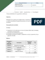 Actividad- Aplicaciones AJAX. Arquitectura y tecnologías. Vulnerabilidades de seguridad y defensas