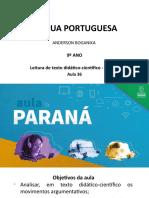 Língua Portuguesa 9ªano Slides Aula36