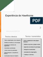 Experiencia de Howthorne - Ppt 2