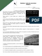 Exercício de Química - Folha 2 - 3E-EM - 15-03