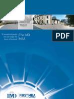 MBA program brochure