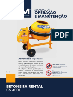 Manual Betoneira 400L RENTAL