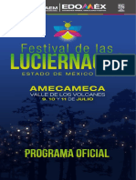 Programa Festival de las Luciérnagas Edomex 2021