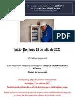 Cursos Presenciales ESFORTEC_ 18 de julio 2021
