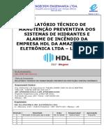 Relatório de manutenção hidrantes e SDAI - ASSINADO Incendio  Fabrica Legrand