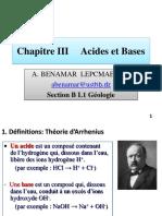 Cours III Acides -Bases-A. BENAMAR