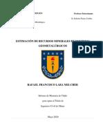 Tesis Estimacion en Recursos Mineralesdommetalurgico