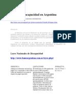 Leyes de Discapacidad en Argentina