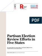 Partisan Election Review Efforts Across the United States in 2021 - 07.08.21