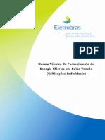 101002 NDEE 02 Norma Fornecimento Energia Elétrica Em Baixa Tensão Edificações Individuais