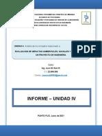 Informe - Evaluacion Del Impacto Ambiental en Los Proyectos de Ingenieria