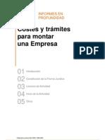 COSTE TRAMITES CONSTITUCION