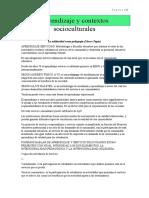 Aprendizaje y contextos socioculturales RESUMEN