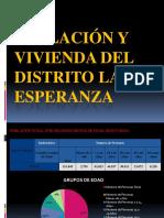 POBLACION Y VIVIENDA DEL DISTRITO DE LA ESPERANZA