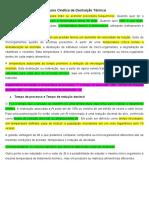 Resumo Cinética de Destruição Térmica