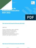 Plan Nacional de Evaluación Educativa 2021-2022