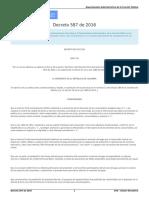 Decreto 587 de 2016 Gestor Normativo