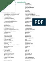 Engine department vocabulary list