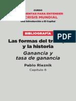 1 Rieznik Las formas de trabajo y la historia. Ganancia y tasa de ganancia