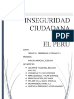 INSEGURIDAD CIUDADANA