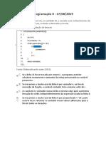 Prova Programação II - Corrigida, instituição ESAB