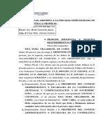 SOLICITA REQUERIMIENTO A LA COOPERATIVA CASO TITA VILLARROEL ROBO AGRAVADO