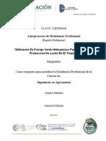 UTILIZACION DE FORRAJE VERDE HIDROPONICO PARA AUMENTAR LA PRODUCCION DE LECHE EN EL TROPICO