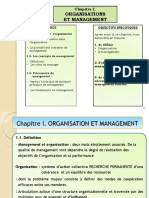 Chapitre i. Organisation Et Management
