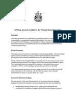 Liberal NDP Bloc Coalition Policy Framework
