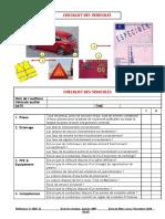 Checklist - Private Car FRE-SHE-21
