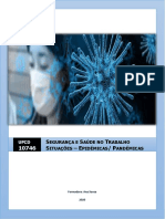 Manual  - Segurança e Saúde no Trabalho -  Situações Epidémicas - Pandémicas