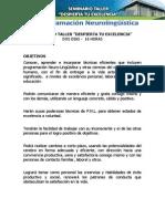 SEMINARIO TALLER NEUROLINGÜISTICA 2