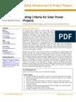 Fitch - Solar Power Criteria